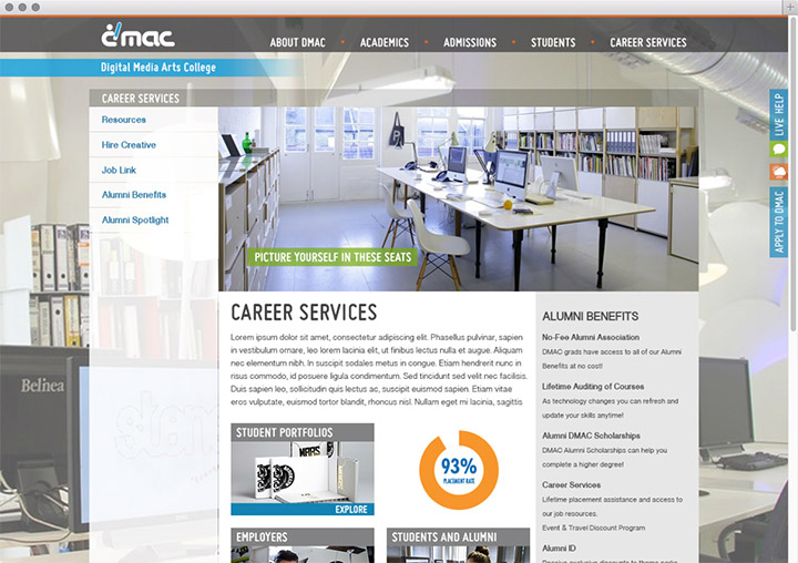 DMAC career services page