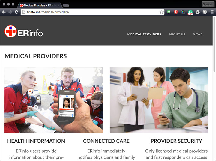 ERinfo Medical Provider page