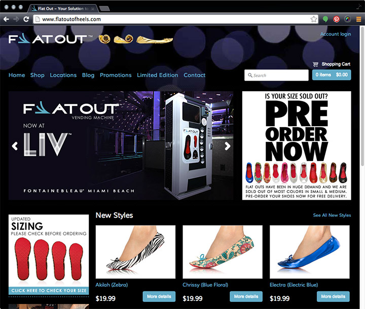 Flat Out of Heels home page