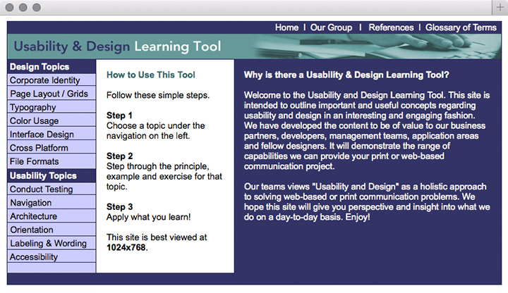 Usability & Design Learning Tool